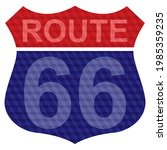 route sixty six sign vector...   Shutterstock .eps vector #1985359235