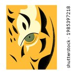 eye of the tiger color vector... | Shutterstock .eps vector #1985397218