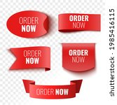 order now sale banners. red...   Shutterstock .eps vector #1985416115