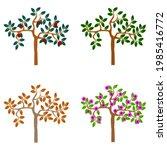 logo tree  seasonal trees ... | Shutterstock .eps vector #1985416772