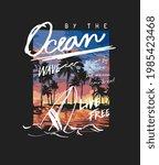 typography slogan on palm beach ... | Shutterstock .eps vector #1985423468