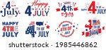 collection of happy 4th of july ... | Shutterstock .eps vector #1985446862