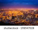 view of cape town at dawn ... | Shutterstock . vector #198547028