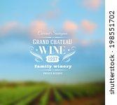 Wine Label Type Design Against...