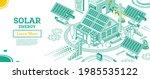 solar energy panels on the roof ... | Shutterstock .eps vector #1985535122