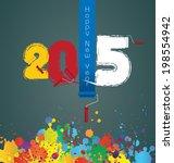 happy new year 2015 | Shutterstock .eps vector #198554942