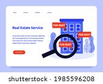 real estate service landing... | Shutterstock .eps vector #1985596208