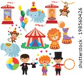 retro circus vector illustration | Shutterstock .eps vector #198560426