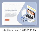 customer feedback landing page...   Shutterstock .eps vector #1985611115