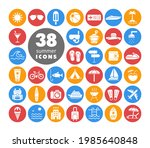 summer vector white glyph icons ...