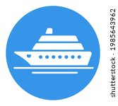 cruise liner flat vector white...