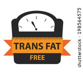 black trans fat free bathroom... | Shutterstock . vector #198564575