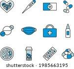 medical vector set icons linear ... | Shutterstock .eps vector #1985663195