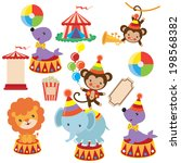 retro circus vector illustration | Shutterstock .eps vector #198568382