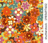 colorful floral vector seamless ... | Shutterstock .eps vector #1985697602