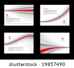 templates for corporate style   Shutterstock .eps vector #19857490