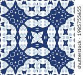 ceramic tiles azulejo portugal. ... | Shutterstock .eps vector #1985755655