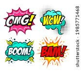 collection of four colorful... | Shutterstock .eps vector #1985771468