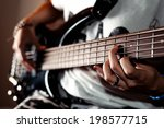 Playing A Rock Guitar