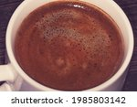 the texture of freshly brewed... | Shutterstock . vector #1985803142