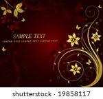 golden floral vector background | Shutterstock .eps vector #19858117
