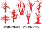 set of dead trees silhouette on ... | Shutterstock .eps vector #1985822942