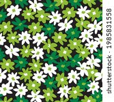 vector green bunch of fun daisy ... | Shutterstock .eps vector #1985831558