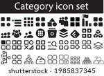 category icon set solid glyph... | Shutterstock .eps vector #1985837345