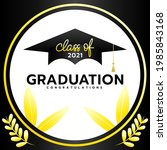 class of 2021 with graduation...   Shutterstock .eps vector #1985843168