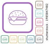 single cheeseburger simple... | Shutterstock .eps vector #1985847482