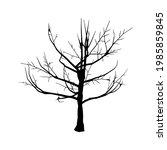dead tree silhouette on white... | Shutterstock .eps vector #1985859845