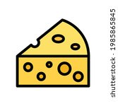 cheese vector icon in filled...