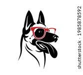 belgian shepherd dog malinois... | Shutterstock .eps vector #1985878592