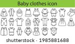 baby cloth icon set outline... | Shutterstock .eps vector #1985881688