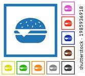 single cheeseburger flat color... | Shutterstock .eps vector #1985936918