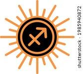 sagittarius zodiac astrology... | Shutterstock .eps vector #1985940872