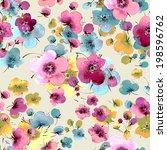 seamless pattern of flowers | Shutterstock . vector #198596762