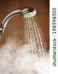 shower with flowing water and... | Shutterstock . vector #198598505
