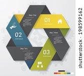 design clean number banners... | Shutterstock .eps vector #198599162