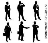 silhouette illustration of... | Shutterstock .eps vector #198605372