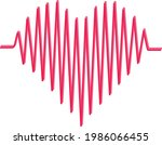 heartbeat line heartt shape...   Shutterstock .eps vector #1986066455