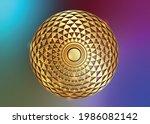 torus yantra  gold hypnotic eye ... | Shutterstock .eps vector #1986082142