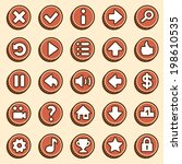flat  simple video game icons...