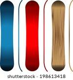snowboards | Shutterstock .eps vector #198613418