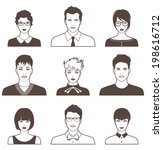 set of vector people icons | Shutterstock .eps vector #198616712