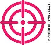 target aim icon  cross aim sign | Shutterstock .eps vector #1986212135