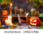 Witch Table With Halloween...