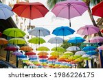 Colorful Hanging Umbrellas In...