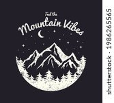 t shirt design with mountains ... | Shutterstock .eps vector #1986265565