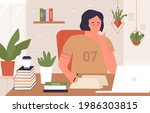 hard study  prepare for exam...   Shutterstock .eps vector #1986303815